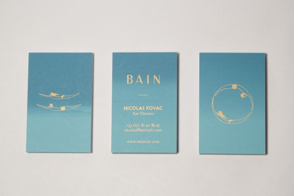 BAIN Silk Printed Business Cards on Behance