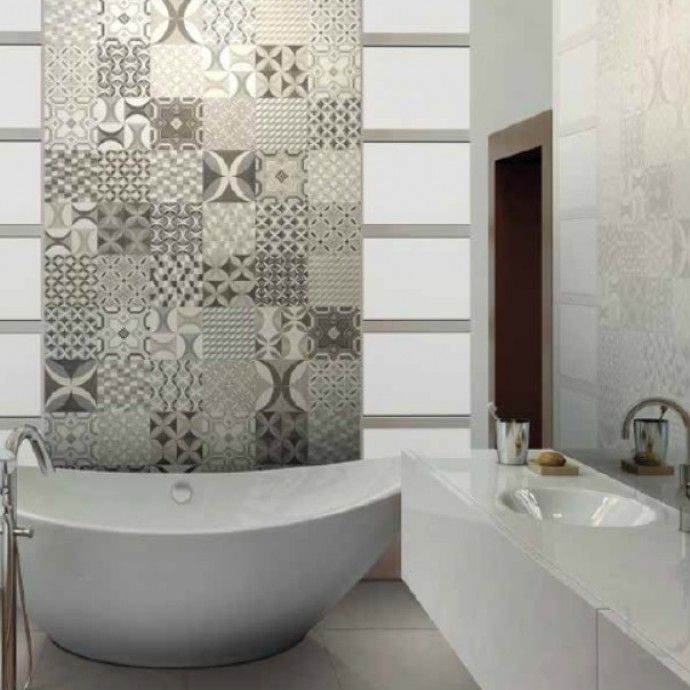 Cementine in bicottura 20x20 bath bathroom bathroom flooring e bathroom for Vasca da bagno con piedi