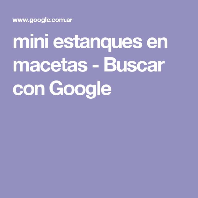 mini estanques en macetas - Buscar con Google