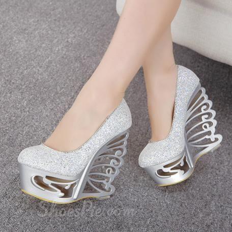 Charming Sexy Unique Heel Wedge Heels | Unique heels, Wedges and ...