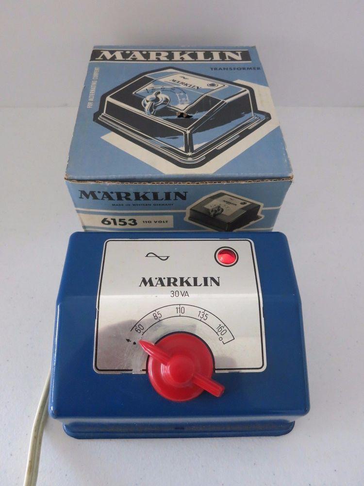 Vintage Marklin 6153 110 115 Vac Power Supply Ho Transformer Mrklin Vintage Electronics Vac Transformers
