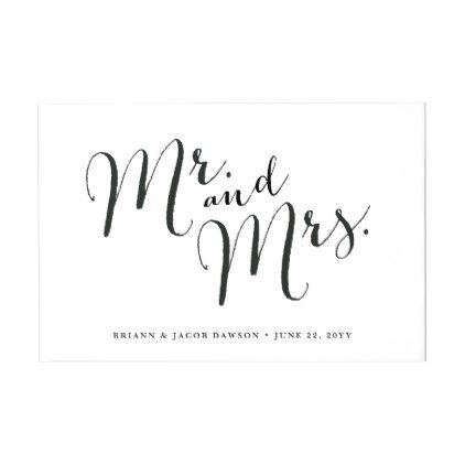 Hand Lettered Wedding Card Individual 5x7 Card /& mrs. mr