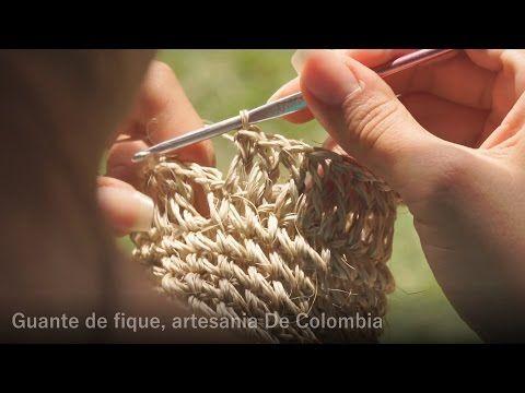 Manoplas de crin o fibras naturales tejidas a ganchillo - Patrones ...