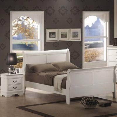 Wildon Home Sanford Sleigh Bedroom Set in White Bedroom Ideas