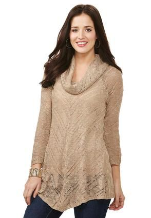 Cato Fashions Cowl Neck Swing Sweater-Plus #CatoFashions | Clothes ...