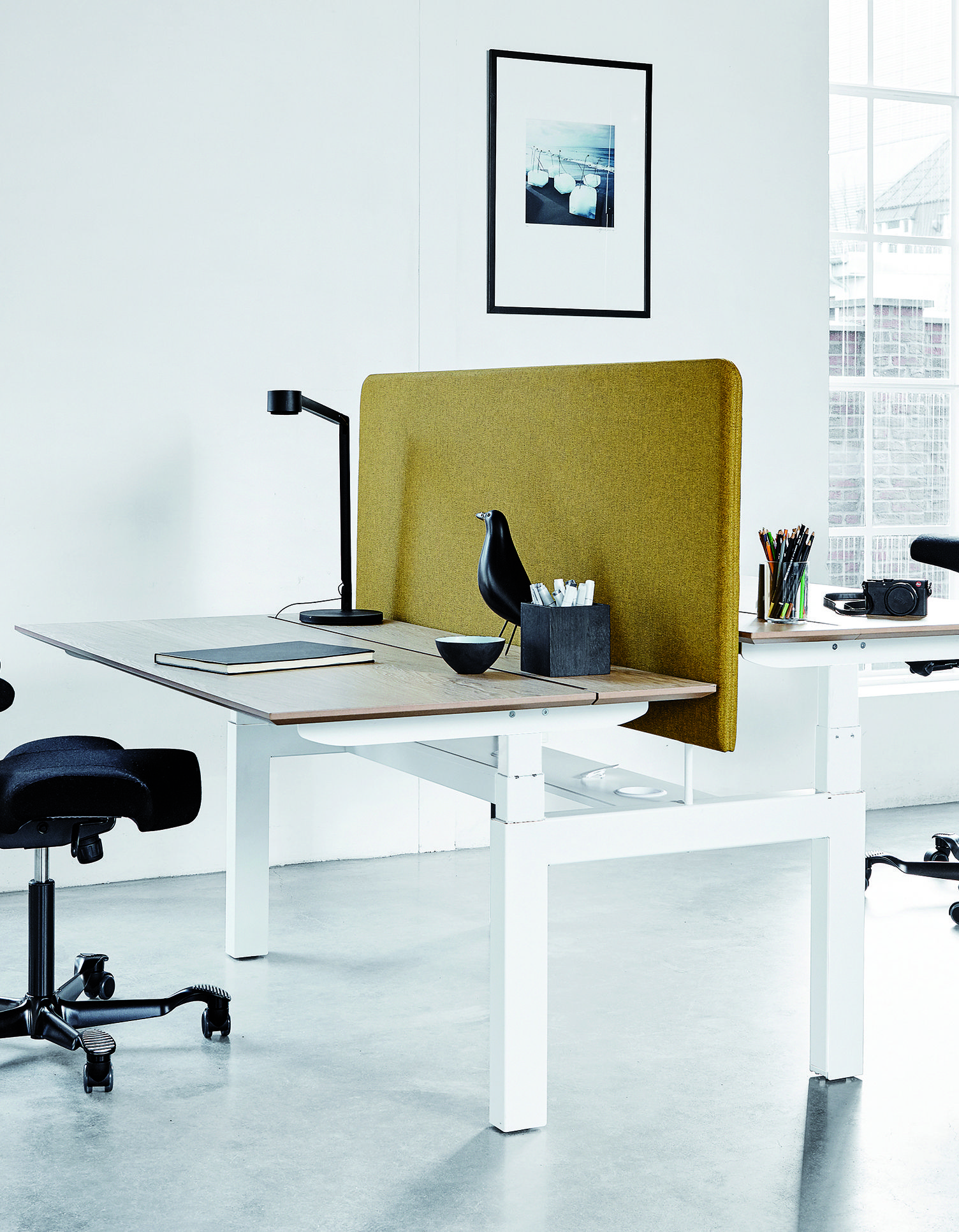 With This Desk You Can Work Separate Or As A Team The Desk Is