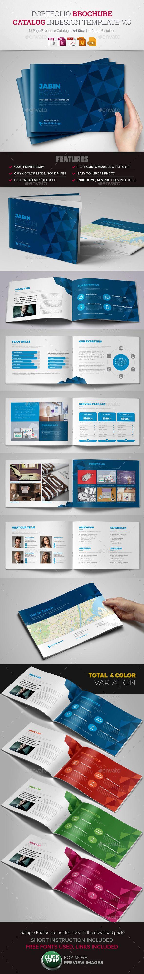 Portfolio Brochure InDesign Template v5 | Catálogo, Diseño editorial ...