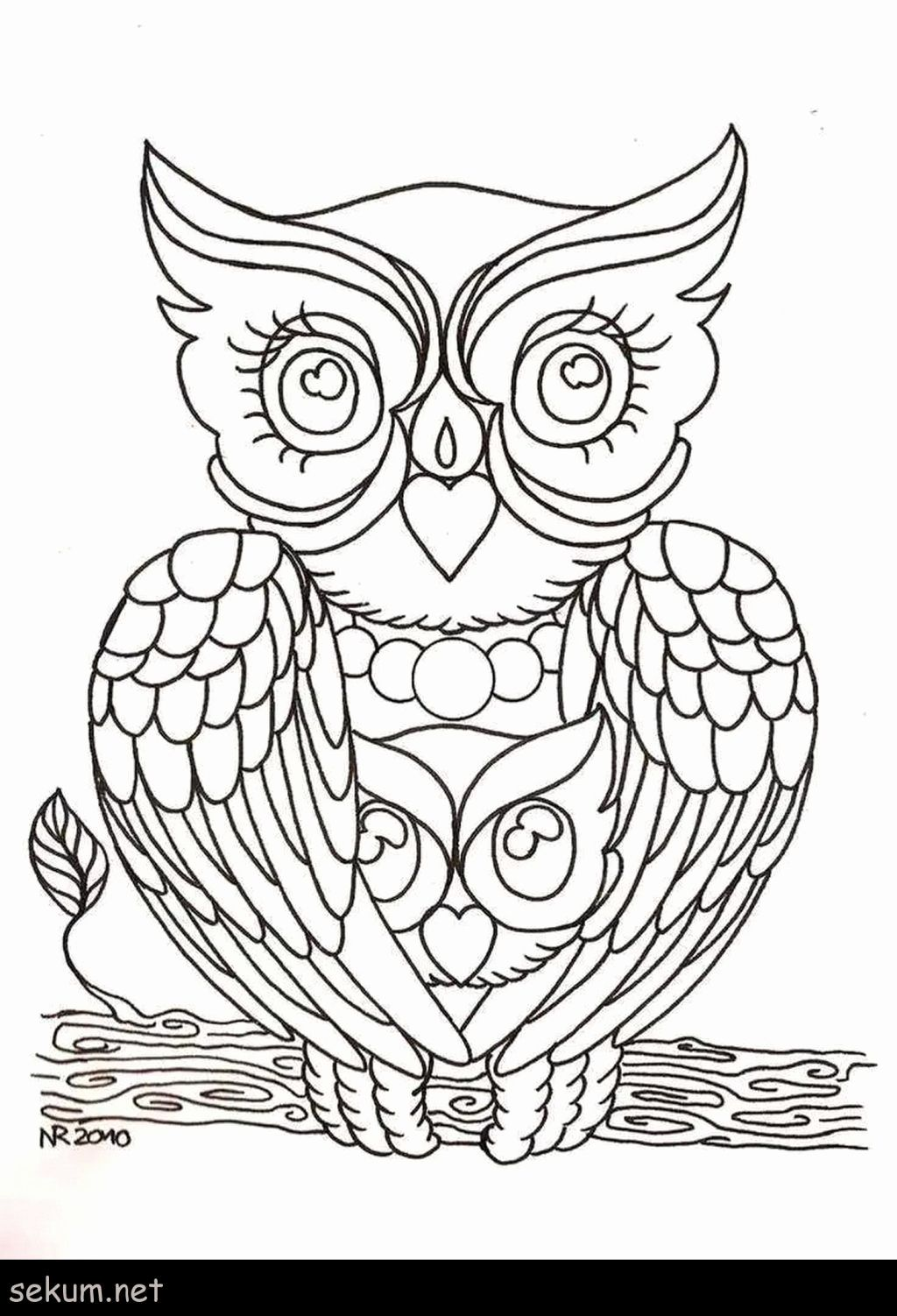 Hard Coloring Owl Pages For Kids Owl Coloring Pages Coloring Pages Coloring Books