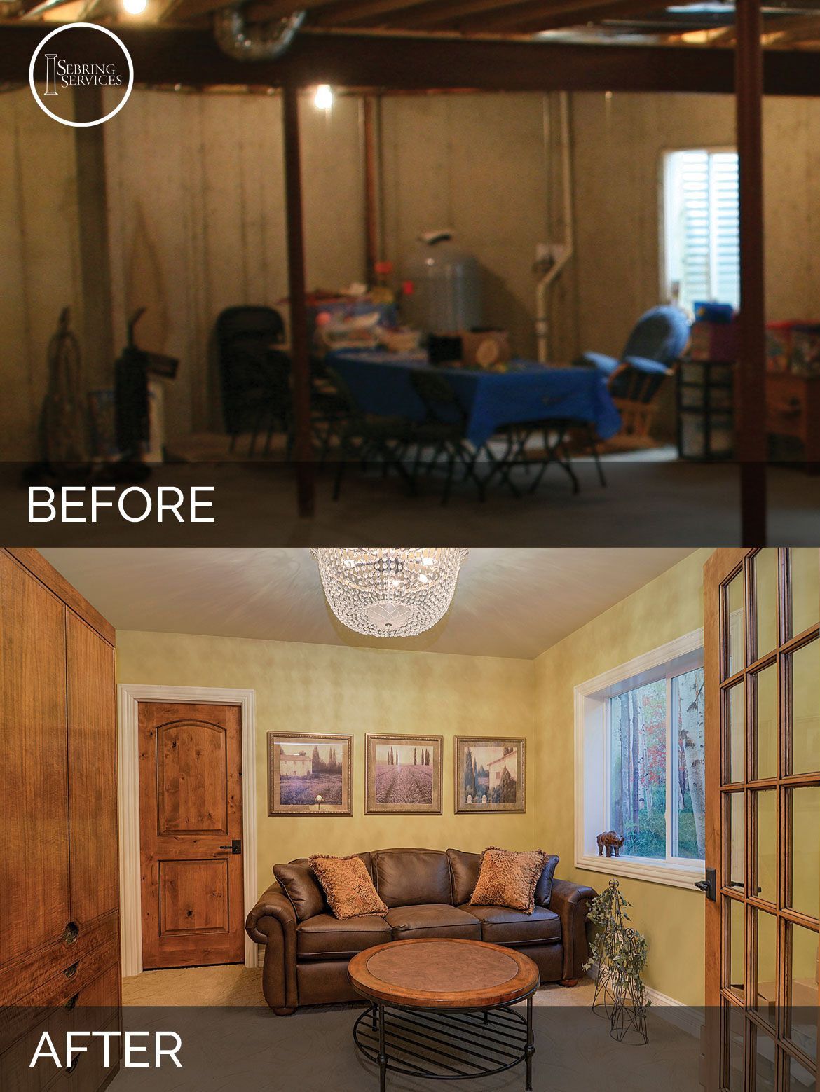 Brian & Danica's Basement Before & After Pictures