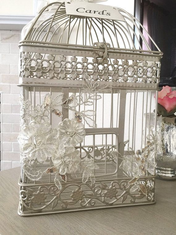 Birdcage Card Holder Elegant Money Box Wedding Birdcage Card Holder Wish Box Money Box Card Box Money Box Wedding Wedding Birdcage Birdcage Card Holders