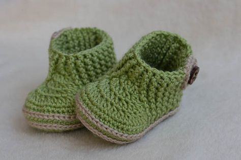 CROCHET PATTERN for Baby green booties with stretch top - Cheap ...