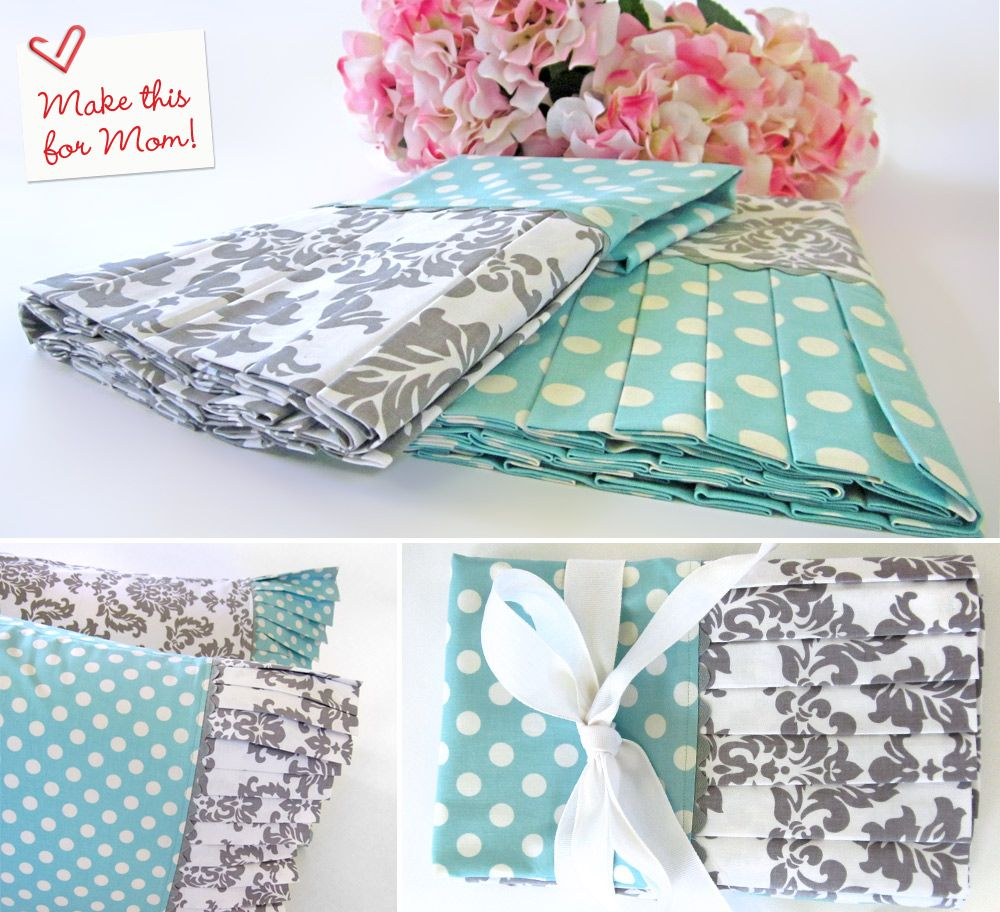 Diy sewing pillowcases mothers day with fabric pleated