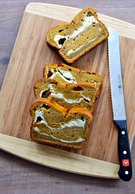 Pumpkin Cream Cheese Swirl Bread!!!!  A perfect fall treat!