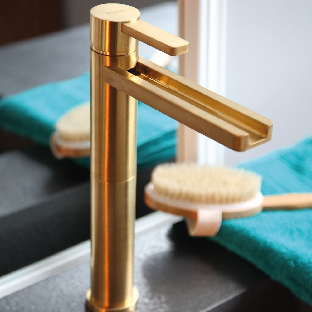AQUA BRUSHED GOLD LUXURY BATHROOM FAUCET   Bath   Pinterest   Faucet ...