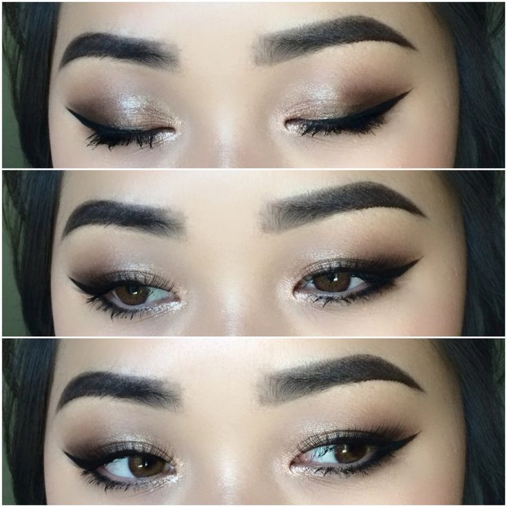 Makeup For Asian Eyes Bright Highlight In The Inner Corners Will Brighten Up Your Eyes And Loo Asian Eye Makeup Makeup Looks For Brown Eyes Wedding Eye Makeup