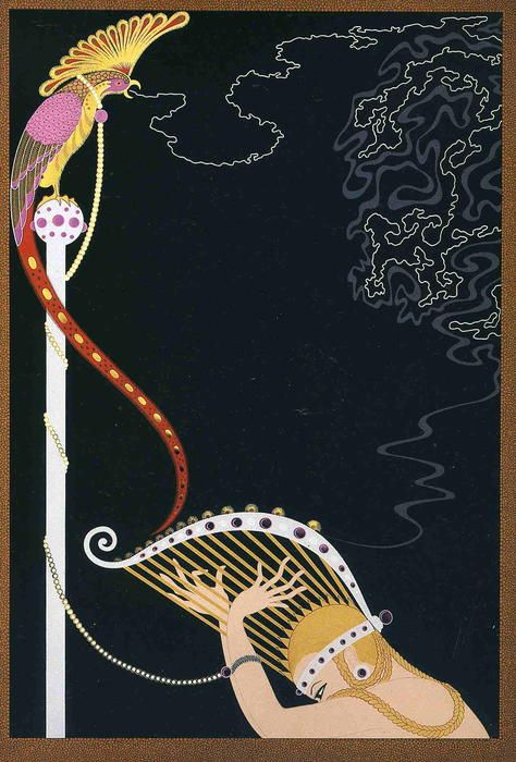 Enchanted Melody by Erté (Romain De Tirtoff) (1892-1990, Russia)