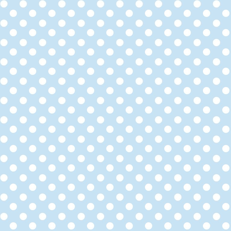 Baby und kinderstoff aus bio baumwolle mit punkten in for Tapete hellblau muster