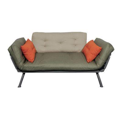 Elite Products Mali Flex Futon Mattress And Cushions Color Kelp Stone Tang