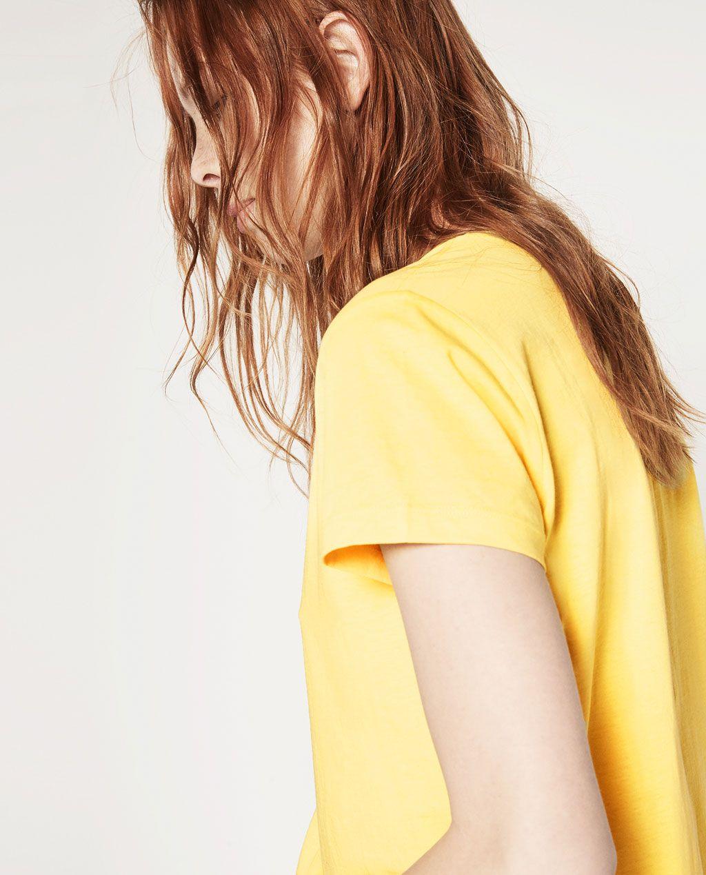 Image 2 of ORGANIC COTTON STRIPED T-SHIRT from Zara
