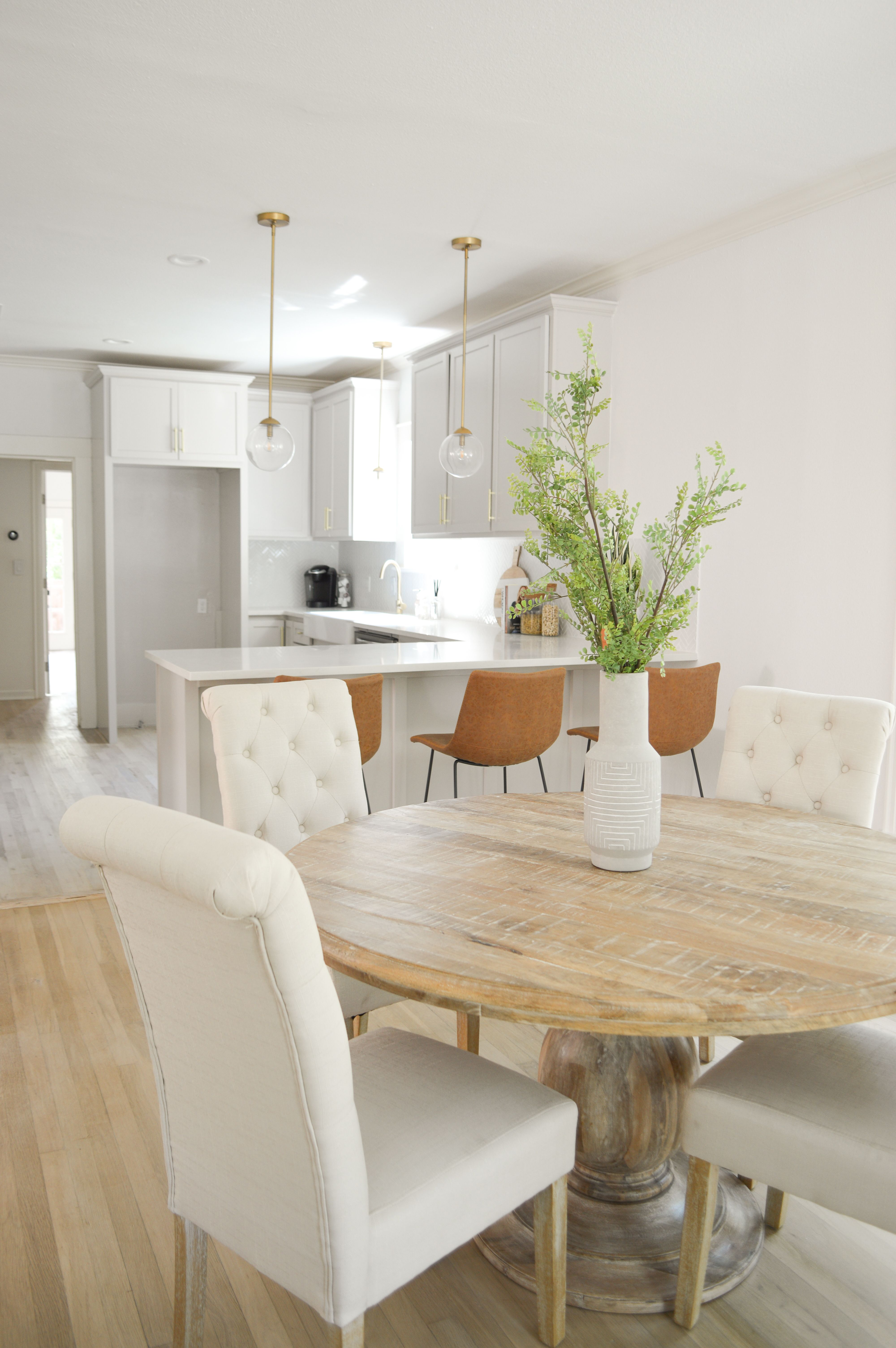 The Byers Project Modern Farmhouse Dining Table And Chairs Grey Kitchen Cabinets Modern Farmhouse Dining