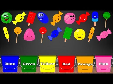Learn Colors With Candy For Children Jelly Lollipops Ice Cream Color Sorting Educational Learning Video For Learning Colors Color Songs Kids Learning Videos