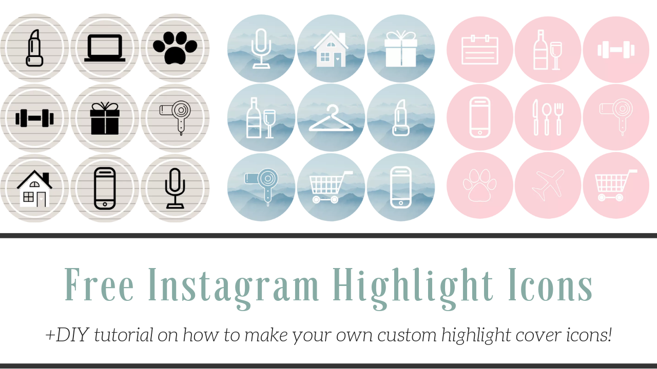 How to Make Instagram Highlight Covers. (50+ free icons
