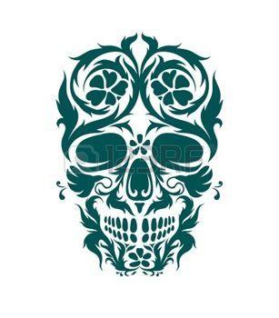 tatouage tete de mort tribal mexicain l 39 art ornemental d 39 un cr ne pour une utilisation. Black Bedroom Furniture Sets. Home Design Ideas