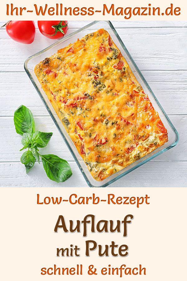 Auflauf mit Pute - herzhaftes, gesundes Low-Carb-Rezept