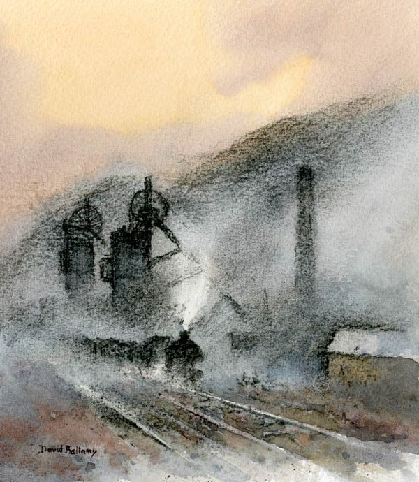 Dirt Dust And Watercolour Paintings Of Coal Mines Coal Mining