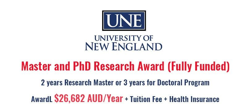 The University Of New England Australia Is Inviting Applicants For Fully Funded Postgraduate Research Scholarships Postgraduate Scholarships Application