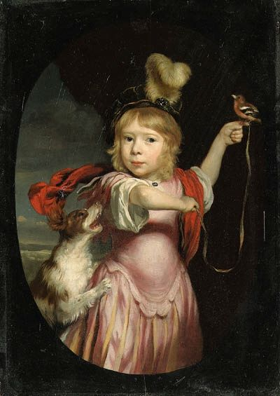 """""""Portrait of a Boy as Cupid"""" by Nicolaes Maes (1660)"""