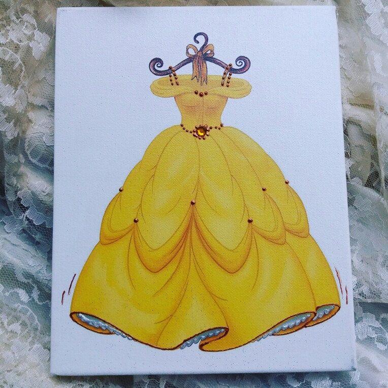 princess canvas wall art by Errikos Art design | Nursery Art (my ...