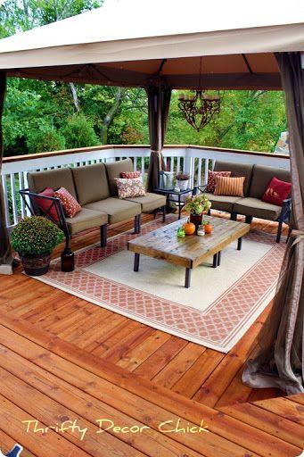 Top 10 Patio Ideas Outdoor Ideas Deck Terrace Square Deck Decorating Ideas Like Curtain On Posts