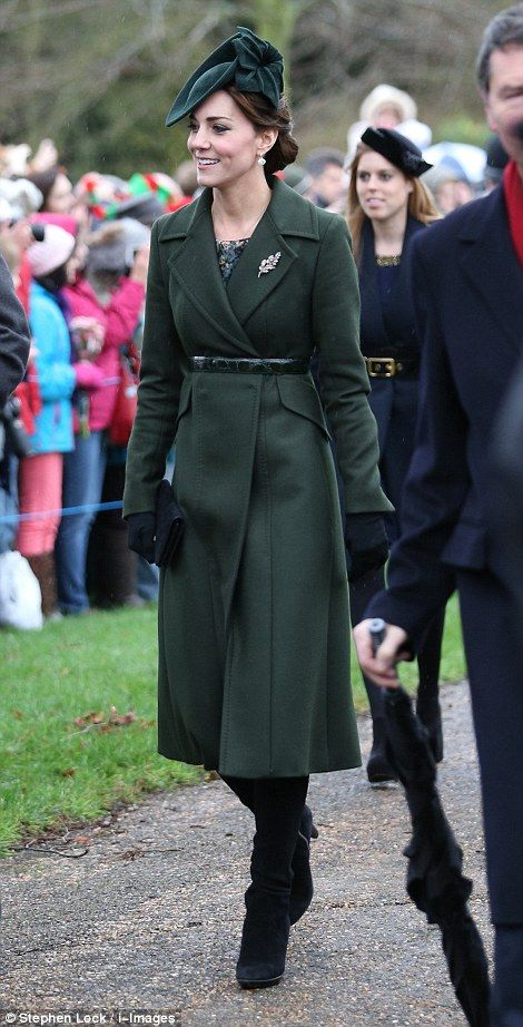 The Queen arrives for Christmas Day service at Sandringham