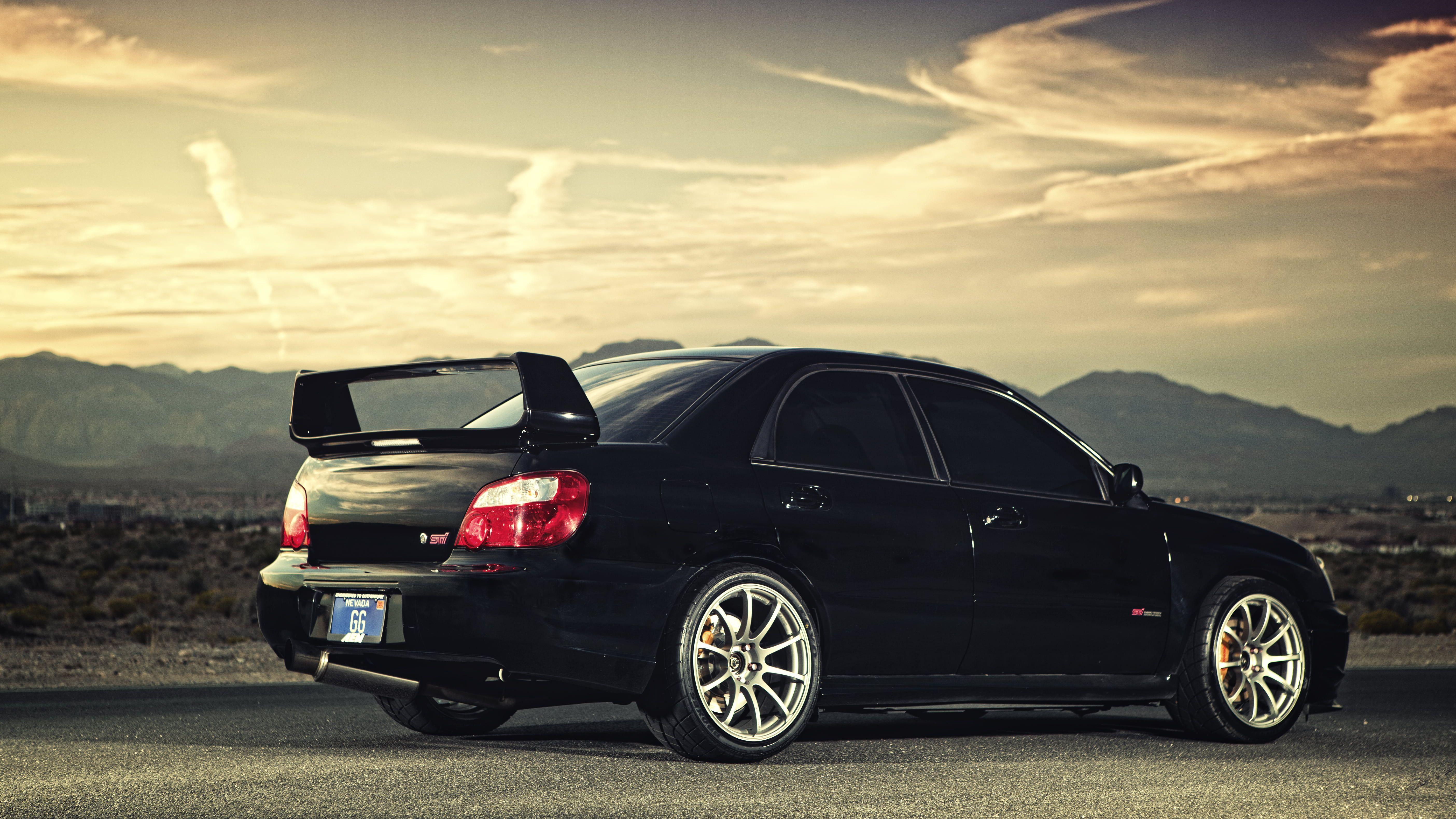 Subaru Impreza Wrx Sti Black Car Desert Dirt Spec D Blobeye 5k Wallpaper Hdwallpaper Desktop Impreza Wrx Subaru Hd wallpaper subaru black car road