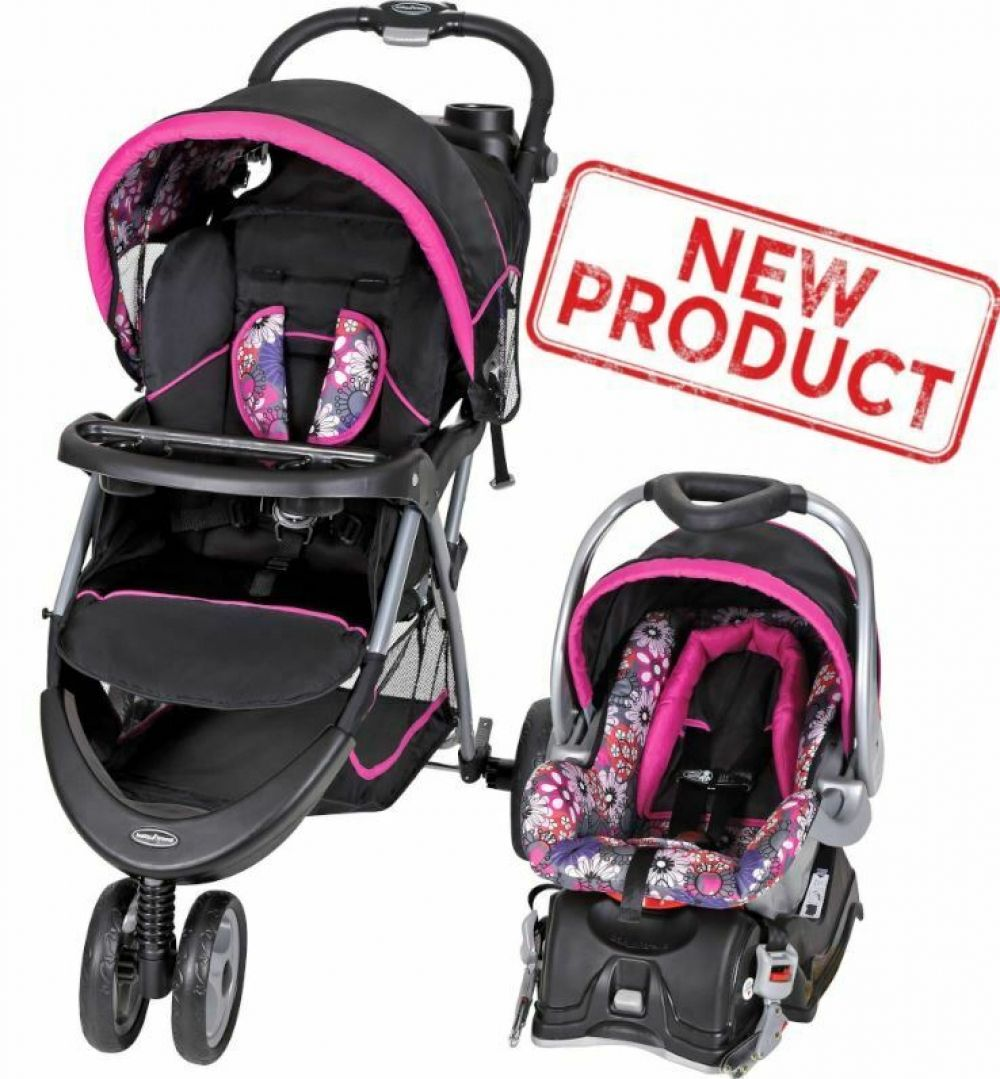 Baby Stroller + Car Seat Combo Walking Girl Toddler Travel