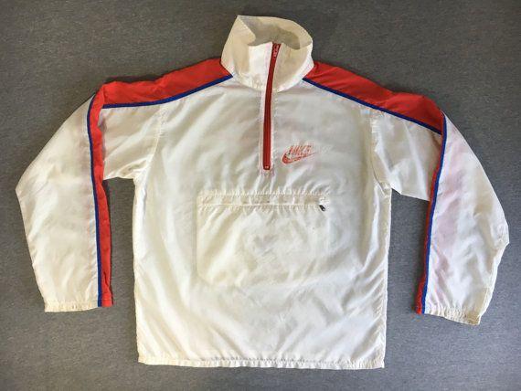 0f00d34bd560b NIKE WINDBREAKER Jacket 70s/80's Vintage/ Talon Zipper Half Zip ...