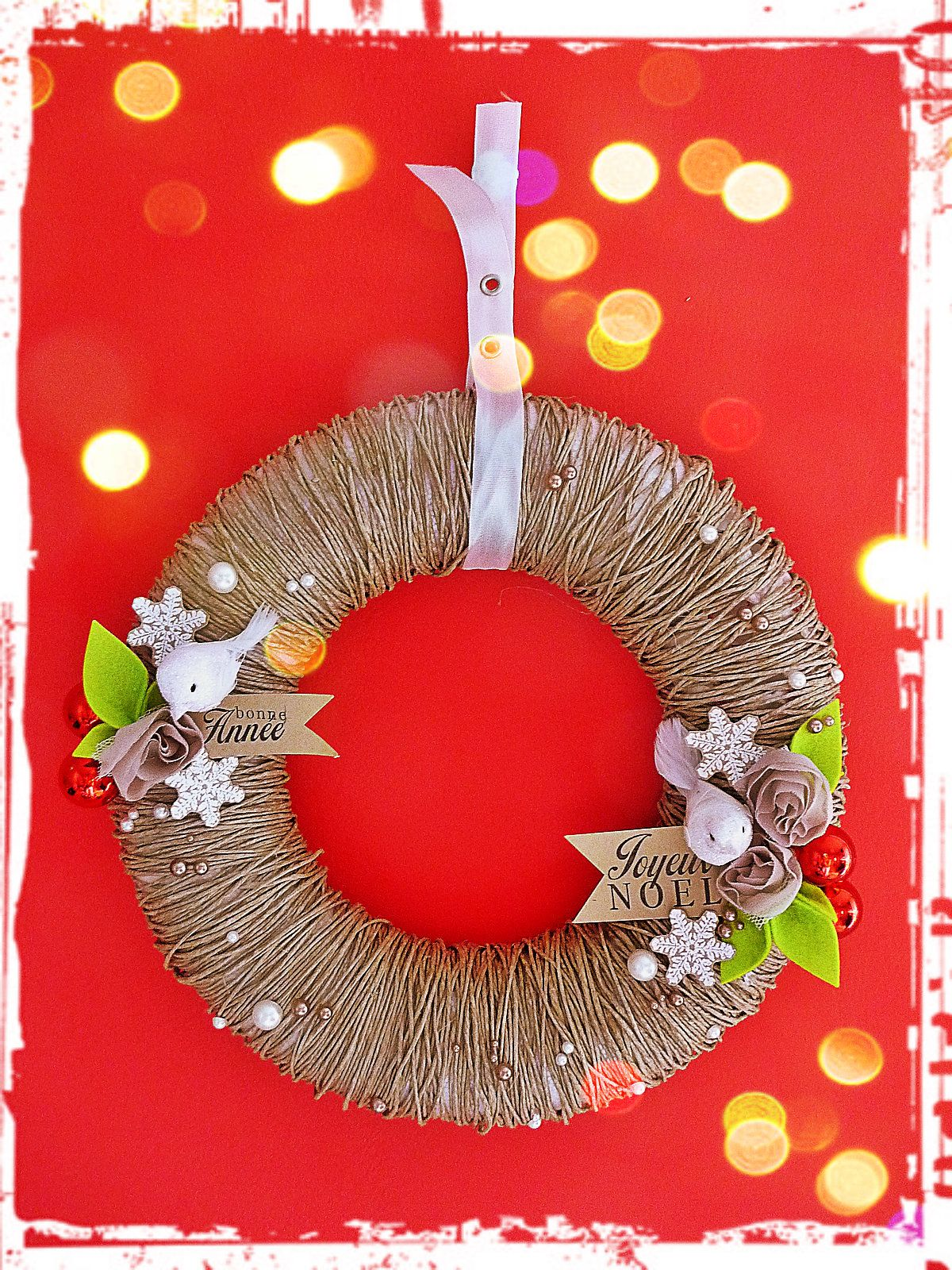Couronne Decoration Couronne Ficelle Noël Christmas Pinterest Couronne