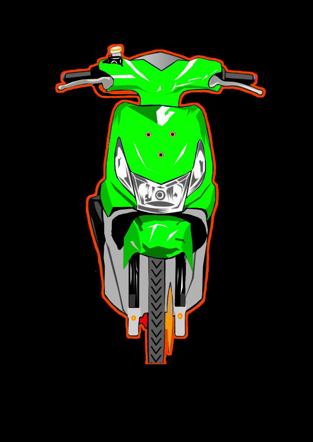 Honda Beat Vector : honda, vector, Desain, Vektor,, Otomotif,