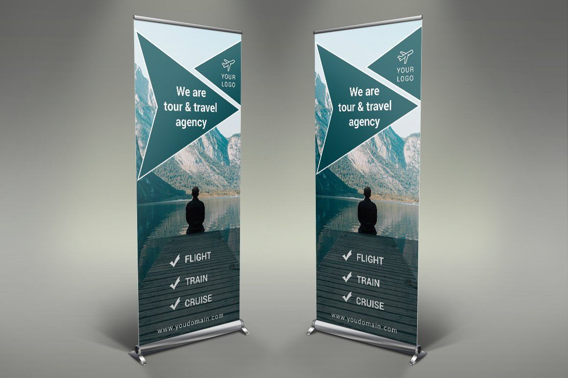 Travel Roll Up Banner by Creatricks on creativemarket