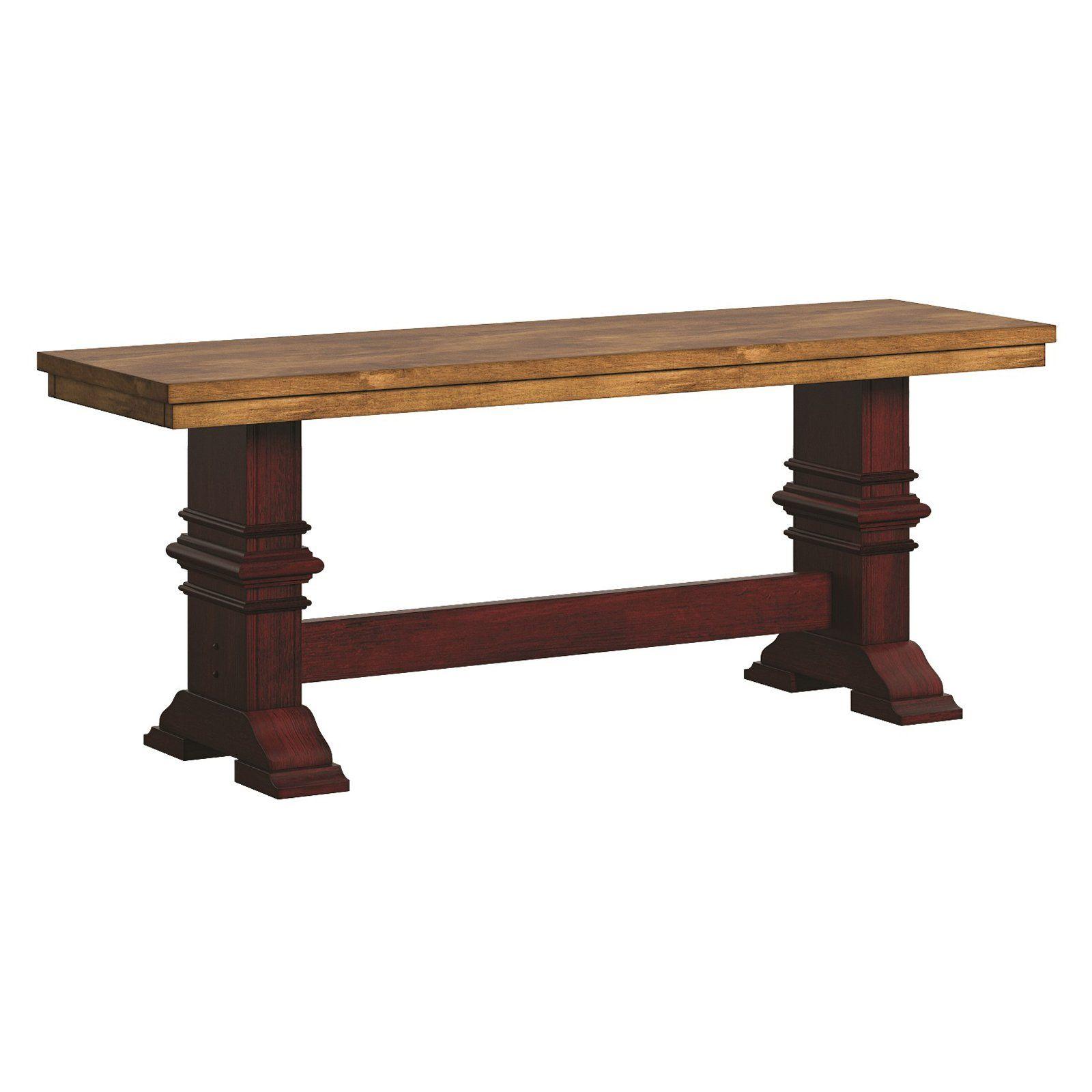 Fine Weston Home Farmhouse Dining Bench With Trestle Leg Beatyapartments Chair Design Images Beatyapartmentscom