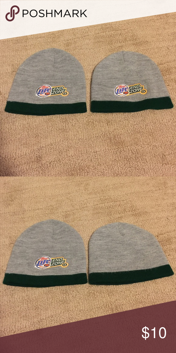 e82c784f434b9 Green Bay Packers Miller Lite End Zone beanie hat Green Bay Packers Miller  Lite End Zone beanie Hat. Authentic logo d embroidery. Measures ~9