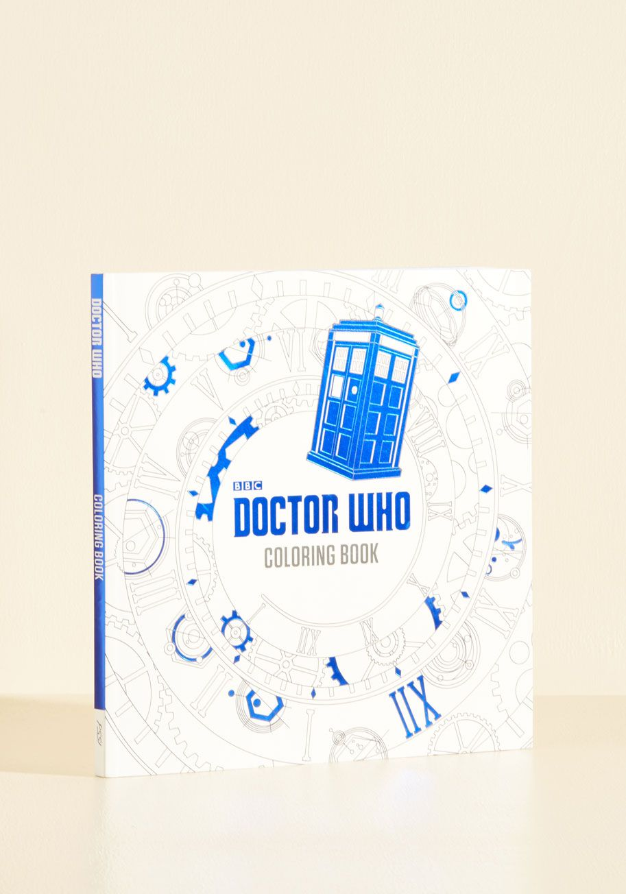 The Zest Of Time Coloring Book Dont Blink Or You May Miss One Dalek Table Details In This Doctor Who From Penguin Books