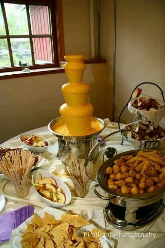 Nacho Cheese Fondue Bar Savory Cheese Fountain Fondue Fountain