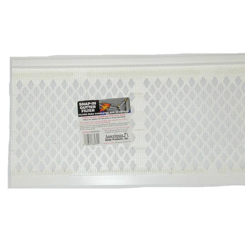 Amerimax Snap In Gutter Filter Pvc Gutter Screen 6 5 In X 3 Ft Lowes Com In 2020 Pvc Gutters Gutter Screens Gutter