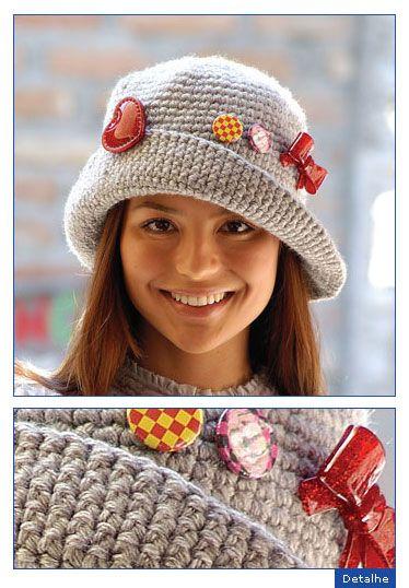 Chapéu crochê (Receitas de Trico e Croche) Touca De Tricô 3b6defc3974