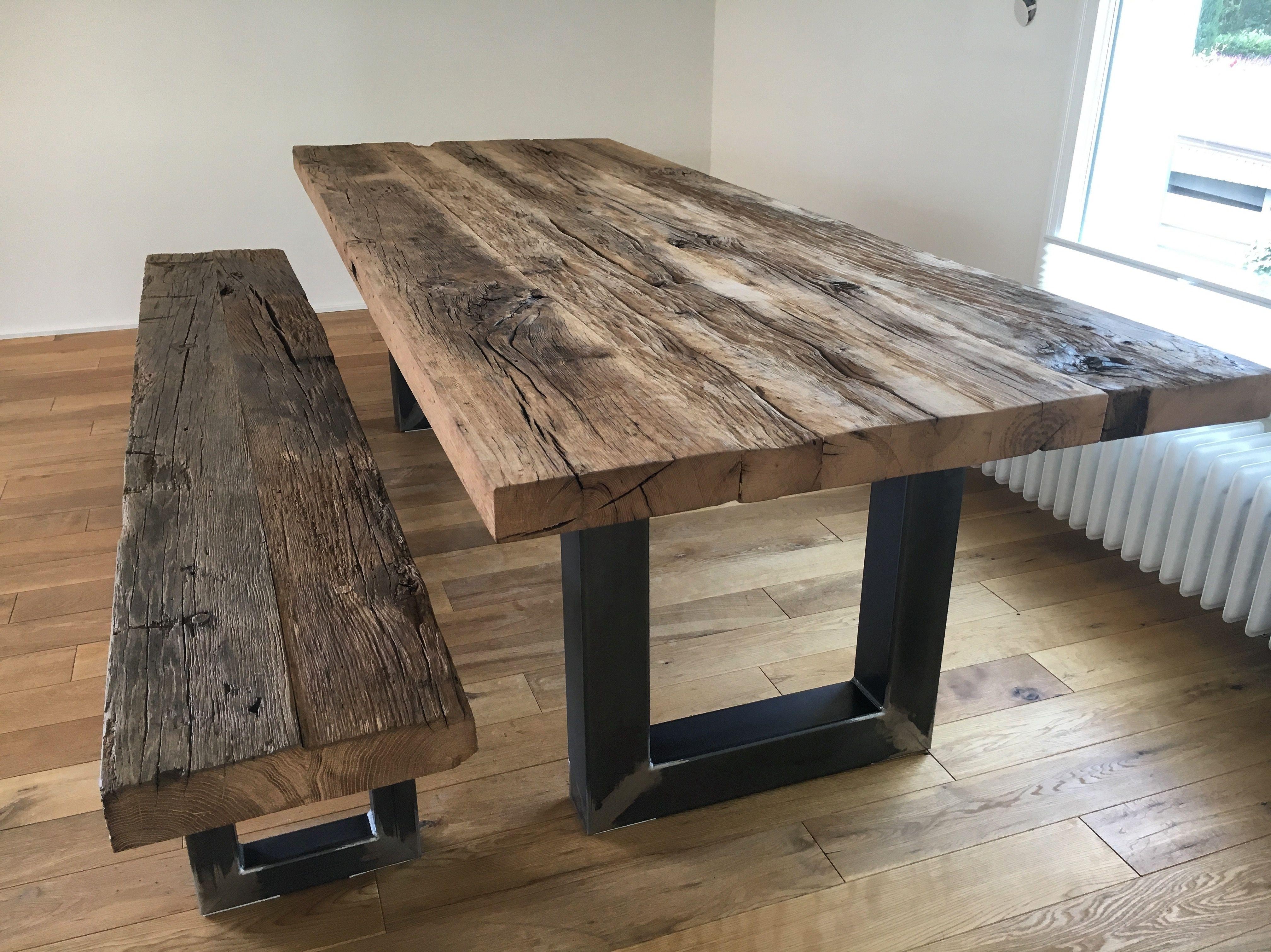 massivholztisch esstisch holztisch eichentisch altholz tisch table