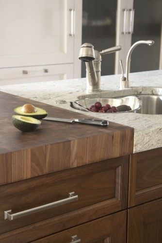 Transition From Stone Solid Surface To Wood On Counter Http Myekdesign Com Kitchen Design Modern Kitchen Kitchen Remodel