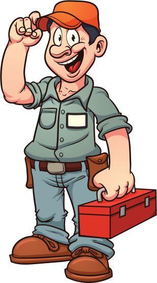 44ff6ecd02209 Cartoon Repairman Vector Art 153135201