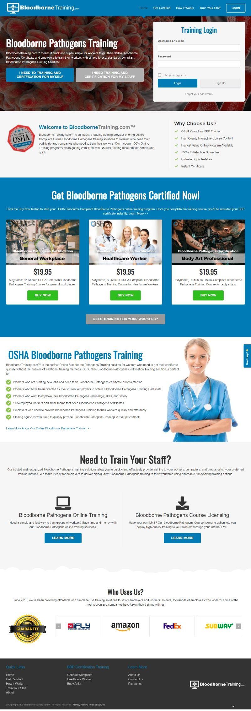 Bloodborne pathogens training in 2020 Bloodborne